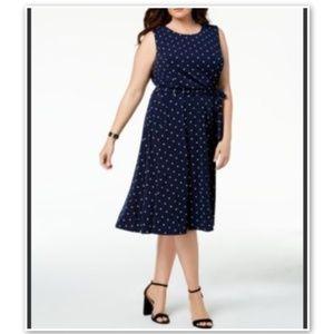 Charter Club Macy's Blue Polka Dot Dress Plus 3X